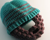 Bearded Beanie Hat - Crochet