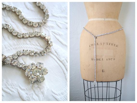 vintage designer belt long necklace nancy katz. Black Bedroom Furniture Sets. Home Design Ideas