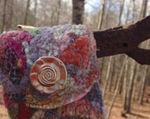 Bohemian Style Upcycled Fiber Cuff - Cashmere and Lambswool