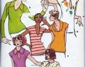 Vintage 1970s Betsey Johnson Tops Sewing Pattern Butterick 4676 Size 14 UNCUT