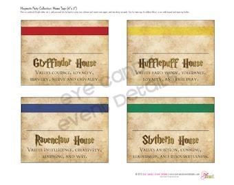 Harry Potter Inspired - Hogwarts PRINTABLE NAME TAGS - Hogwarts Birthday Party - Harry Potter birthday - Hogwarts Signs - Hogwarts Name Tags