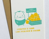 Little G Peaches and Cream Anniversary Notecard
