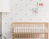 Gold Wall Decal Vinyl Wall Decal 91 Gold Dots Kids Decor Nursery Design Gold Baby Nursery. Mini Dots Children Wall Decal
