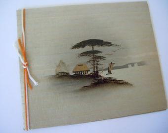 Vintage Japanese Christmas Card 1950s Japanese Art Post World War II Japanese Occupation Souvenir