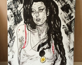 Amy Winehouse - Back to Black painting