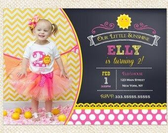 Sunshine Birthday invites , You are my sunshine birthday invitations , Little Sunshine, 1st Birthday