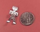 Vintage Tiny Sterling Indian Man Brooch