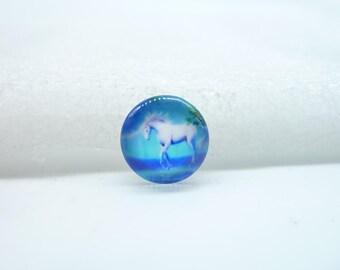 10pcs 12mm Handmade Photo Glass Cabochons(Unicorn Horse)  GB58-23