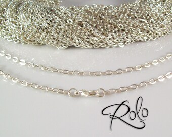 "200 18"" Shiny Silver Plated ROLO Chain Necklaces with Lobster Clasp 3mm - Bright and Shiny"