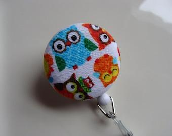 Retractable Badge Reel - Wise Owls