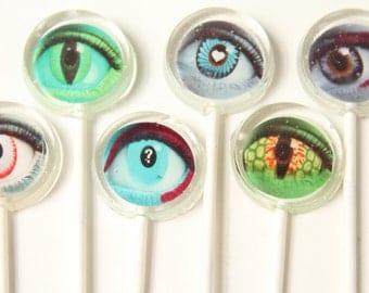 Eyes Halloween Lollipops 6 pieces