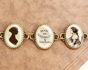 "Jane Austens ""Sense & Sensibility"" - Literature Bracelet"