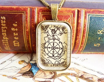 Wheel of Fortune - Tarot Necklace