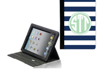 Personalized iPad 2/ iPad 3 Folded Cover - Monogram iPad mini Case - iPad Sleeve - iPad Folio Case