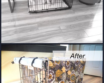 Modern Designer Floral Dog Pet Wire Kennel Crate House Cover ONLY S M L XL