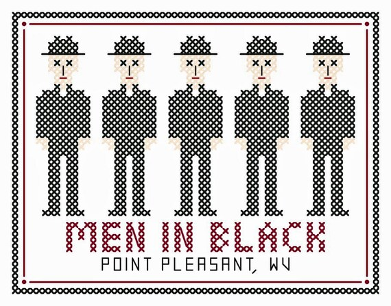 Men In Black Original Cross Stitch Chart From