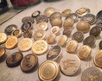 Vintage Buttons - Gold
