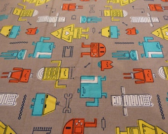 Robotic in Grey, Cosmic Convoy Collection by Michele Brummer- Everett  for Cloud 9 Fabrics, 1/2 yd