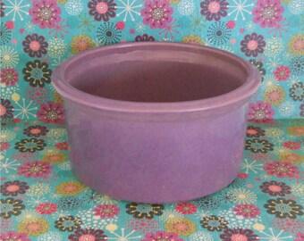 Purple Glazed Pottery Planter / Pet Bowl