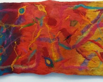 A splash of colour' felted Textile Art
