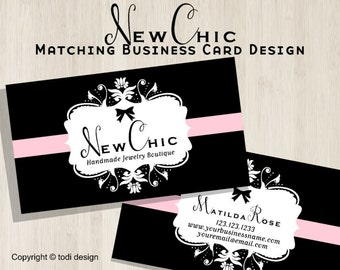 New Chic Business Card design to match New Chic Premade shop set