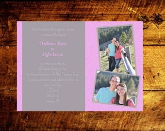 unique wedding invitations, printable wedding invitations, custom wedding invitations, wedding announcement, photo wedding invitations