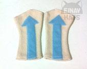 Avatar inspired Aang Fingerless Gloves arrows