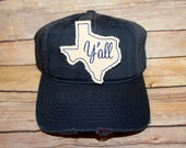 TEXAS NAVY HAT with Script Y'all