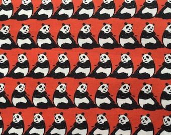 1M Japanese cotton fabric Panda  printed fabric