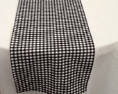 Table Runner, Black and White Check, Gingham Runner, Wedding, Shower, Party, Home Decor, Custom Sizes Available