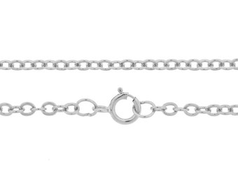 """Sterling Silver 2.7x2.2mm 7.5"""" Flat Cable Chain Bracelet with clasp - 1pc 10% Discounted High Quality Shiny Bracelet (6613)/1"""