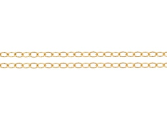 14kt Gold Filled 2.2 x 1.6mm Flat Cable Chain - 100ft (2352-100) Bulk quantity Wholesale price
