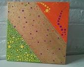Original Painting - 10 x 10 Canvas - Sari Inspired Art - Home Decor