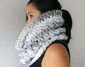 Marble Blend Chunky Oversized Cowl,  Extra Wide Infinity Scarf,, WInter Accessories