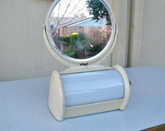 Vintage Desktop Mirror Lamp - Cosmetics Mirror