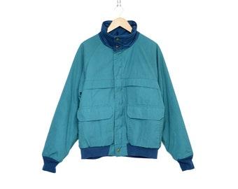 Vintage Woolrich Teal & Blue 60 / 40 Winter Ski Jacket, Made in USA