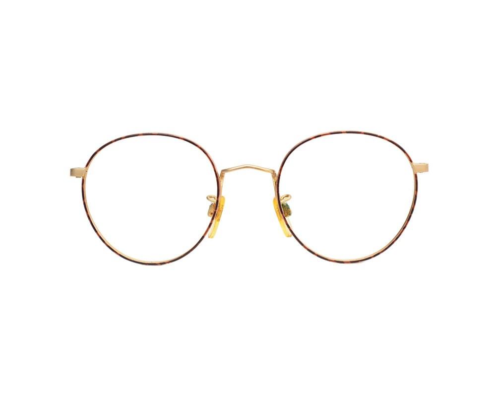 Armani Gold Frame Sunglasses : Vintage Giorgio Armani Round Frame Gold & Red Tortoise
