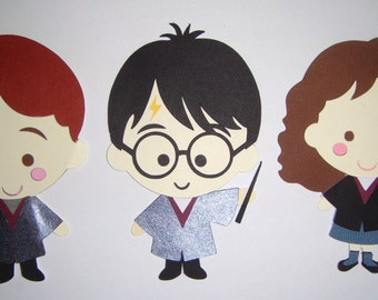Harry Potter and Friends Paper Die Cut Paper Doll Scrapbook Embellishment