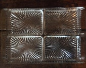 Vintage French Art Deco Vanity Dresser Catch All Glass Dish Tray Snack Tray circa 1950's / English Shop