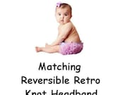 Matching Retro Reversible Knot Headband for Baby Toddlers Girls Adults