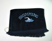 Blue swimmers towel