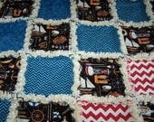 Rag Quilt - Blanket Rag Quilt - Rag Throw - Rag Picnic Throw - Nautical Rag Quilt - Boy Quilt