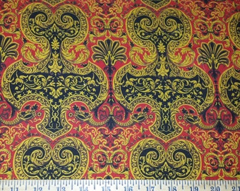 Baroque Ornamental Cotton Lycra Knit Fabric