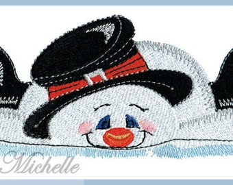 Clumsy Snowman - 3 Sizes - Machine Embroidery
