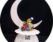 Wedding Cake Topper Motorcycle Homer & Marge The Simpsons Simpson top Funny