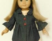 18 inch Doll Clothes American Girl Denim Coat