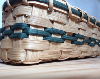 Handmade Cracker Basket - Teal