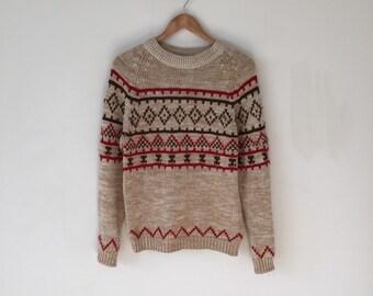 Winter Brown Ski Sweater S/M