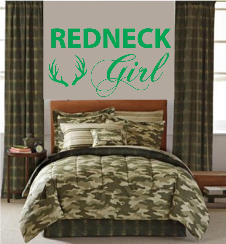 Redneck Girl Wall Truck Decal Pintail Duck Deer Antlers