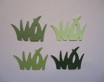 16 Grass Die Cuts for Scrapbooking Cards and Paper Crafts Embellishment Yard Lawn Tuft Field Outdoors